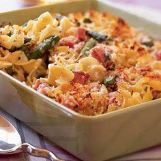 Recipes, Dinner Ideas, Healthy Recipes & Food Guide: Under 300 Calories - Asparagus-and-Ham Casserole