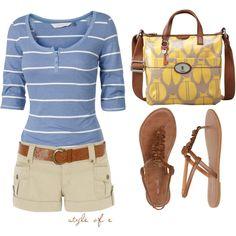 short, summer styles, summer ensembl, afford summer, beach outfits, summer outfits, carolina blue, summer clothes, summer days