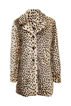 long leopard fur coat under $100!
