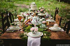Unique and creative take on Alice in Wonderland's tea party.  Magical Alice In Wonderland Styled Shoot