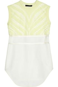 Alexander Wang Mesh-trimmed knitted tank (60% off on @theoutnet)