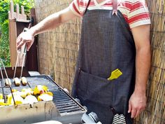 Easy DIY Fathers Day Gifts: Denim Apron>> http://www.hgtv.com/holidays-and-entertaining/easy-fathers-day-recipes-cocktails/pictures/index.html?soc=pinterest