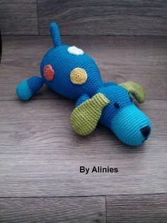 Crochet dog with dots pattern via Craftsy