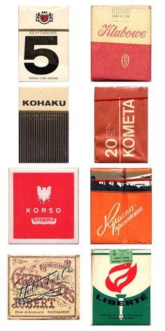 Vintage Cigarette Packs