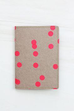 travel wallet ( neon dots on kraft by fellowfellow)