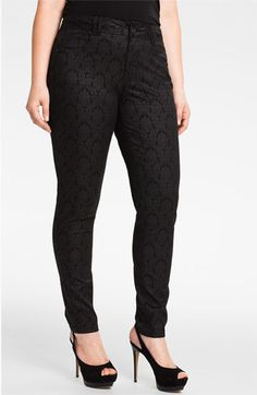 Wit & Wisdom Brocade Denim Leggings from Nordstrom