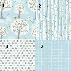 """Baby Boy Crib Bedding Birch Trees """"Backyard Baby"""" Theme Custom Set. $150.00, via Etsy."""
