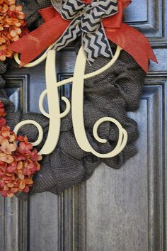 Burlap Wreath Fall Wreath Fall Hydrangea by theembellishedhome