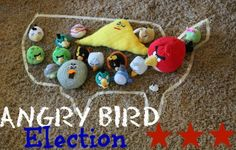 Angry Bird Election:  Explaining the process of an election to kids in a way they'll understand