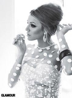 icon, fashion, stella mccartney, polka dots, girl crushes, blake lively, wedding hairs, the dress, hair makeup