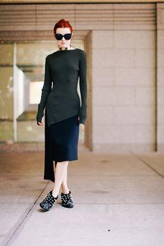 jane aldridge wears jil sander skirt