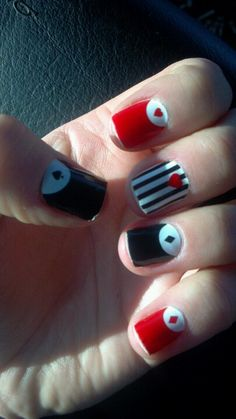 Queen of hearts nail stickers from the project runway cosmetics line