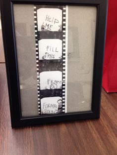 """Great idea for a girl asks boy to the dance! """"Help me fill this frame at Formal/Prom/Homecoming""""."""