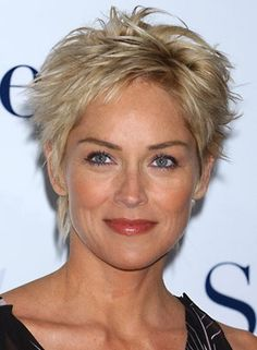 thick short hair styles for women - Google Search short cut, sharon stone, short haircuts, celebrity hairstyles, short hair styles, fine hair, short hairstyles, layered hair, thick hair