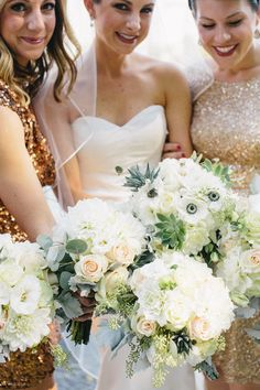 Bridesmaids in Gold | photography by http://www.georgeriveraphotography.com/