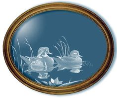 On Golden Pond Duck Art Large Oval Mirror