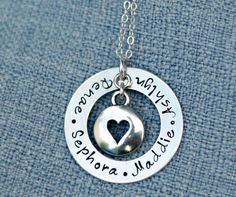 Hand Stamped Jewelry Washer Necklace with by 3LittlePixiesShoppe, $61.00