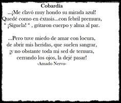 Cobardía-  Amado Nervo