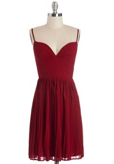 Looking Red Haute Dress. Youre ready for a night on the town as soon as you don this bold red dress! #red #modcloth