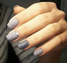 No glitter nail. Switch it out for a marble one instead.