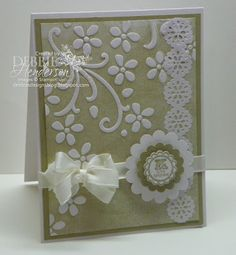 I love this embossing folder inked up!!!!!