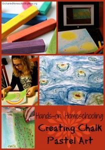 Hands-on Homeschooling: Creating Chalk Pastel Art - Enchanted Homeschooling Mom