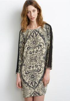Handkerchief Print Shift Dress by Graham & Spencer