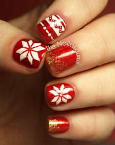 The Nailasaurus: Christmas  #nail #nails #nailart