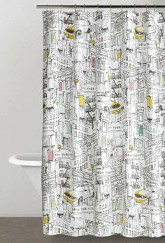 The spriit and energy of New York City. DKNY Broadway Shower Curtain.