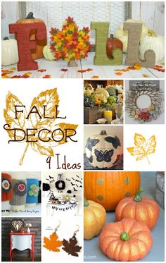 Nine inspiring fall decorating ideas to bring the warm colors of fall into your home. Bakerette.com