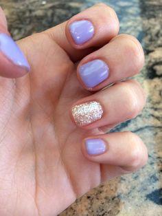 Lavender nails
