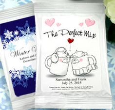 Our Personalized Hot Cocoa / Chocolate #WeddingFavors are a must have for anyone with a desire for a gourmet cocoa experience and are available in a variety of designs so you can always find something perfect for your #wedding!