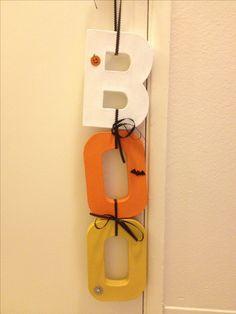 DIY'd me a Halloween decoration! - D #Halloween #decor #diy #candy #corn #boo