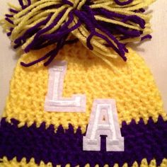 NBA Los Angeles Lakers Basketball Infant Sports Crochet Beanie Hat La | eBay