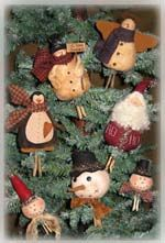 These are great patterns.     715 Clothespin Ornies-ornies, clothespin, snowman ornie