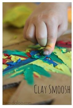 OT Activity of the Week: Clay 'Smooshing' - Pinned by @PediaStaff – Please Visit ht.ly/63sNtfor all our pediatric therapy pins