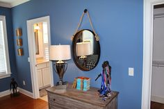 HomeGoods rustic mirror adds a cool touch to this teenagers room. #sponsored #happybydesign