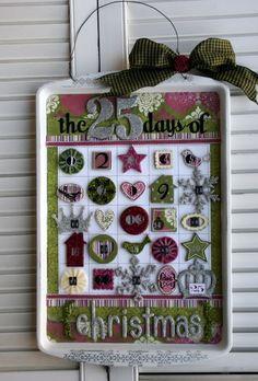 DIY Cookie Sheet Advent Calendar