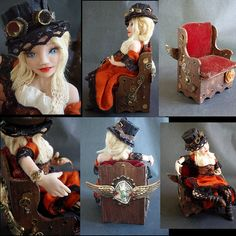Steampunk Doll by polkadottoadstool, via Flickr