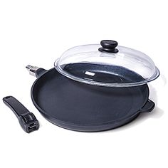 Hand-Cast Non-Stick Frying Pan w/ Removable Handle from Gourmet Kitchenworks LLC on OpenSky $115