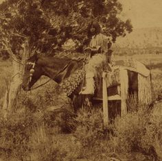 1874 John K. Hillers stereograph was taken shortly after the Black Hawk War with Mormon settlers and five years before the conflicts leading to the seizure of the gold-rich lands promised by treaty in Colorado...