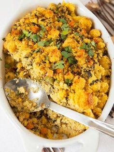 Southwestern Style Poblano Cornbread Stuffing   25 Delicious Stuffing Recipes For Thanksgiving