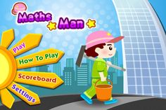 Maths Man ($0.00) Reveal the numbers covered by dirt and pair them up with the corresponding mathematical expressions