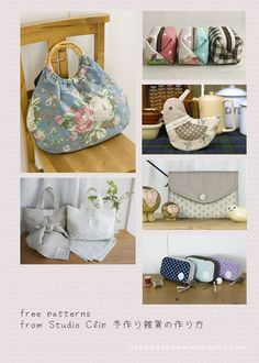 Free Japanese Sewing Patterns – Studio Clip » Japanese Sewing, Pattern, Craft Books and Fabrics