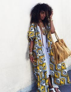 Erebya Paris - Kimono wax #africanfashion #african #fashion #white
