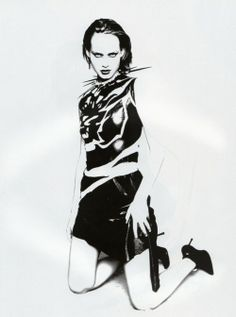 Amber Valletta (Photography by Paolo Roversi)   1997