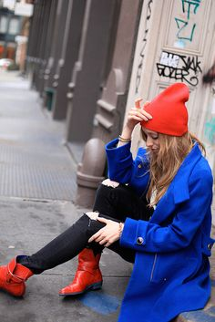 #red + blue #bloggerstyle #style #brightlights #brightcolor