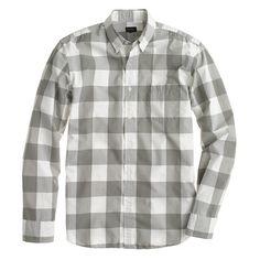 J.Crew Secret Wash shirt in wet gravel gingham