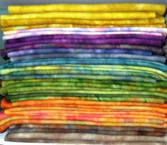 spotted hand dyed wool