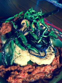 SCD Tempura Cauliflower Steak w/ Blistered Italian Spring Veggies